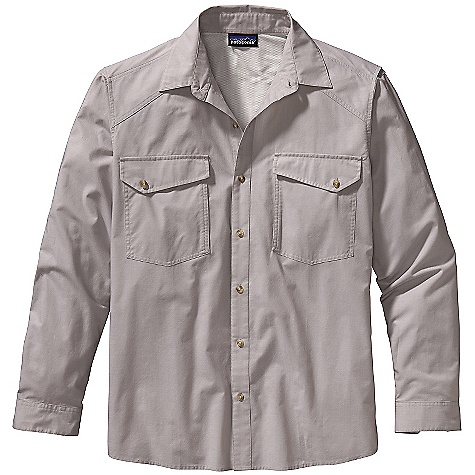 Free Shipping. Patagonia Men's Slick Calm Shirt DECENT FEATURES of the Patagonia Men's Slick Calm Shirt Quick-drying organic cotton/polyester plain-weave fabric is comfortable and highly breathable Fully vented back Front bellows fly box pockets with button closure The SPECS Relaxed fit Weight: 9.8 oz / 278 g 3.7-oz 70% organic cotton 30% polyester plain weave This product can only be shipped within the United States. Please don't hate us. - $69.00