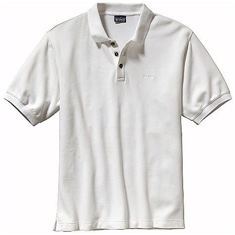 On Sale. Free Shipping. Patagonia Men's Polo Shirt DECENT FEATURES of the Patagonia Men's Polo Shirt Made of a textured 100% organic cotton pique fabric Polo shirt with 3-button placket and side vents Taped neck frame-knit collar and cuffs Straight hem The SPECS Regular fit Weight: 9.8 oz / 278 g 7.2-oz 100% organic cotton pique This product can only be shipped within the United States. Please don't hate us. - $34.99