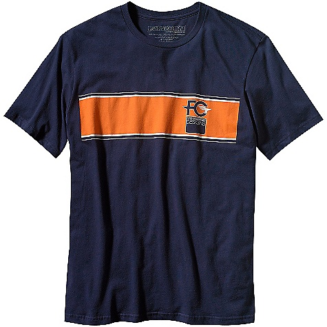 Patagonia Men's FCD Stripe T-Shirt (Fall 2010) DECENT FEATURES of the Patagonia Men's FCD Stripe T-Shirt Screen-print inks are PVC- and phthalate-free Ringspun yarns for a softer hand Taped shoulder seams Lightweight The SPECS Slim fit Weight: 142 g (5.2 oz) 4.4-oz 100% organic cotton Recyclable through the Common Threads Recycling Program This product can only be shipped within the United States. Please don't hate us. - $30.00