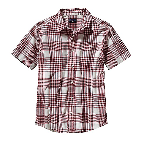 Free Shipping. Patagonia Men's Go To Shirt DECENT FEATURES of the Patagonia Men's Go To Shirt Lightweight, breathable organic cotton/polyester plain weave Button front shirt with left chest pocket Shirttail hem The SPECS Slim fit Weight: 6.3 oz / 179 g 3.7-oz 70% organic cotton 30% polyester plain weave This product can only be shipped within the United States. Please don't hate us. - $55.00