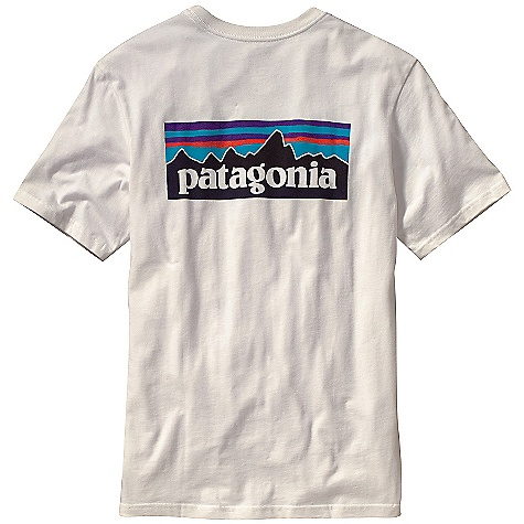 Patagonia Men's P-6 Logo T-Shirt DECENT FEATURES of the Patagonia Men's P-6 Logo T-Shirt Screen-print inks are PVC- and phthalate-free Ringspun, long-staple organic cotton for softness and durability Taped shoulder seams for comfort and fit retention 20 singles supersoft ringspun organic cotton Artist: Patagonia Logowear Crew The SPECS Regular fit Weight: 6.9 oz / 195 g 5.4-oz 100% organic cotton This product can only be shipped within the United States. Please don't hate us. - $35.00