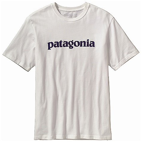 Patagonia Men's Text Logo T-Shirt DECENT FEATURES of the Patagonia Men's Text Logo T-Shirt Screen-print inks are PVC- and phthalate-free Ringspun, long-staple organic cotton for softness and durability Taped shoulder seams for comfort and fit retention Artist: Patagonia Logowear Crew The SPECS Regular fit Weight: 6.9 oz / 195 g 5.4-oz 100% organic cotton This product can only be shipped within the United States. Please don't hate us. - $35.00