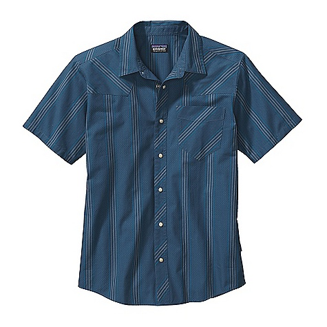 Free Shipping. Patagonia Men's Wisco Shirt DECENT FEATURES of the Patagonia Men's Wisco Shirt Organic cotton fabric with a textured dobby weave Button-front shirt with western-style front and rear yokes Left-chest pocket has reinforced edges for durability Full-length placket with pearl zed snaps Shirttail hem The SPECS Regular fit Weight: 6.6 oz / 187 g 3.5-oz 100% organic cotton dobby weave This product can only be shipped within the United States. Please don't hate us. - $59.00