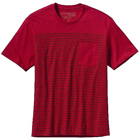 Patagonia Men's Round About Logo T-Shirt DECENT FEATURES of the Patagonia Men's Round About Logo T-Shirt Screen-print inks are PVC - and phthalate-free Taped shoulder seams for comfort Artist: Jason Stowell The SPECS Slim fit Weight: 5.4 oz / 153 g 5.4-oz 100% organic cotton This product can only be shipped within the United States. Please don't hate us. - $35.00