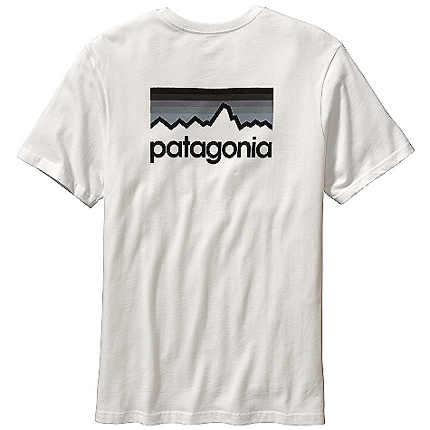 Patagonia Men's Line Logo T-Shirt DECENT FEATURES of the Patagonia Men's Line Logo T-Shirt Screen-print inks are PVC- and phthalate-free Ringspun, long-staple organic cotton for softness and durability Taped shoulder seams for comfort and fit retention 20 singles supersoft ringspun organic cotton Artist: Aaron Draplin The SPECS Regular fit Weight: 6.9 oz / 196 g 5.4-oz 100% organic cotton This product can only be shipped within the United States. Please don't hate us. - $35.00