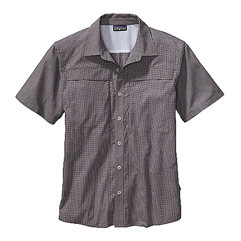 Free Shipping. Patagonia Men's Overhand Shirt DECENT FEATURES of the Patagonia Men's Overhand Shirt Lightweight, breathable, recycled polyester, organic cotton blend with 20-UPF sun protection Button-front shirt with biased placket, front yoke and polyester tricot mesh on inside-back yoke Zippered chest pockets have polyester tricot mesh pocket bags left chest has a vertical, invisible-zipper entry, right chest is a flapped, drop-in envelope pocket Shirttail hem The SPECS Regular fit Weight: 7 oz / 198 g 3.4-oz 65% recycled polyester, 35% organic cotton plain weave, with 20-UPF sun protection This product can only be shipped within the United States. Please don't hate us. - $79.00