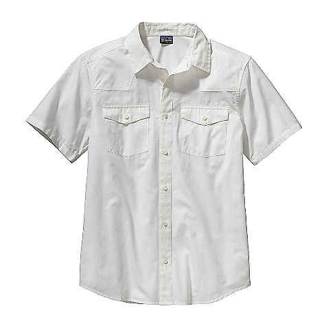 On Sale. Free Shipping. Patagonia Men's Three Trees Shirt FEATURES of the Patagonia Men's Three Trees Shirt Soft, lightweight and breathable organic cotton ripstop Button-front shirt with western yoke front and contrast lining on back neck Two flapped, button-closure chest pockets Shirttail hem No embroidery on back shoulder - $39.99