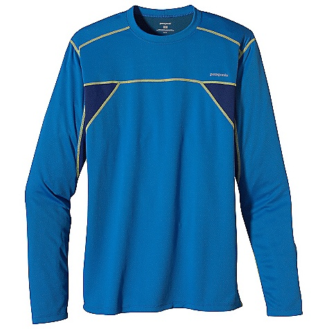 On Sale. Patagonia Men's Runshade Crew DECENT FEATURES of the Patagonia Men's Runshade Crew Moisture-wicking Runshade fabric throughout is supersoft 30-UPF sun protection Self-fabric crewneck is non-binding and moisture-wicking Offset shoulder seams for minimum chafe Reflective heat-transfer logo on chest and center back The SPECS Slim fit Weight: 7.1 oz / 201 g 4.7-oz 100% polyester, with moisture-wicking performance and Gladiodor odor control for the garment This product can only be shipped within the United States. Please don't hate us. - $28.99