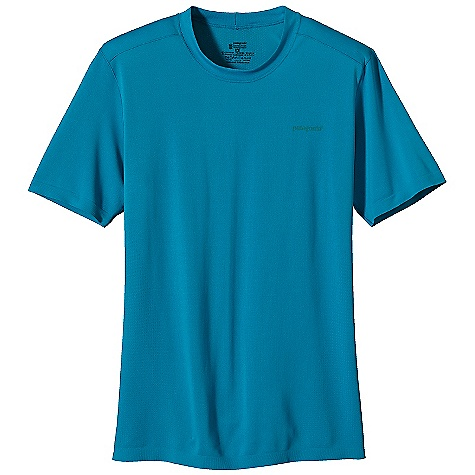 On Sale. Patagonia Men's S-S Gamut Shirt DECENT FEATURES of the Patagonia Men's Short Sleeve Gamut Shirt Made of polyester jersey and mesh-knit fabric with 25-UPF sun protection for maximum breathability and chafe-free comfort Offset shoulder seams reduce chafing Slim-fitting silhouette provides a great fit Tag free for comfort The SPECS Slim fit Weight: 3.9 oz / 110 g 3.7-oz 95% polyester (75% recycled), 5% spandex seamless variable knit, with 25-UPF sun protection and Gladiodor odor control for the garment This product can only be shipped within the United States. Please don't hate us. - $28.99