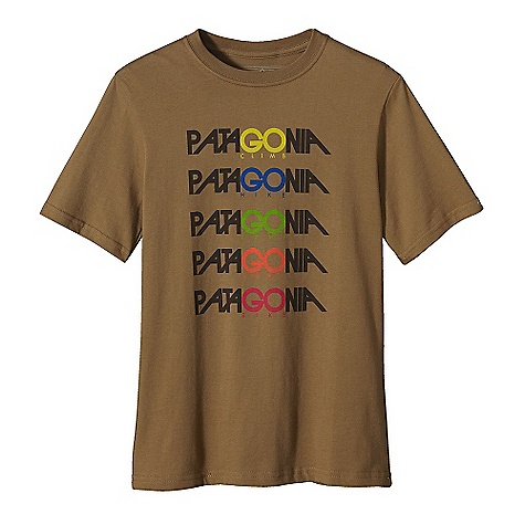 Patagonia Boys' Go Pata T-Shirt DECENT FEATURES of the Patagonia Boys' Go Pata T-Shirt Screen-print inks are PVC-and phthalate-free Taped shoulder seams for comfort Rugged yet comfortable 20 singles 100% organic cotton jersey The SPECS Regular fit Weight: 4.5 oz / 128 g 5.4-oz 100% organic cotton This product can only be shipped within the United States. Please don't hate us. - $25.00