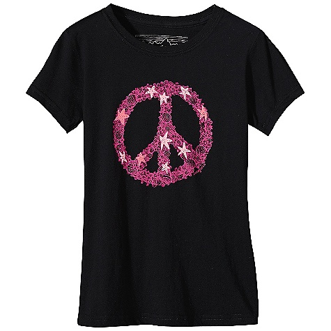 On Sale. Patagonia Girls' Peace Sign T-Shirt DECENT FEATURES of the Patagonia Girls' Peace Sign T-Shirt Screen-print inks are PVC-and phthalate-free Taped shoulder seams for comfort Super soft, 40 singles 100% organic cotton jersey The SPECS Weight: 2.46 oz / 70 g Regular fit Fabric: 4-oz 100% organic cotton This product can only be shipped within the United States. Please don't hate us. - $6.99