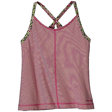 Fitness Patagonia Girls' Elena Tankie DECENT FEATURES of the Patagonia Girls' Elena Tankie Soft organic cotton/Tencel jersey blend has a smooth drape Contrast straps cross in back with keyhole detail Internal 360 degree double-layered hanging shelf bra for modesty The SPECS Regular fit Weight: 3.2 oz / 90 g 4.8-oz 57% organic cotton, 43% Tencel lyocell This product can only be shipped within the United States. Please don't hate us. - $35.00