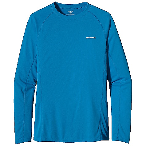 Patagonia Men's L-S Fore Runner Shirt DECENT FEATURES of the Patagonia Men's Fore Runner Long Sleeve Shirt Moisture-wicking, breathable polyester double-knit with 30-UPF sun protection Self-fabric crewneck wicks moisture and won't bind Offset shoulder seams reduce chafe Reflective logos on left chest and center back neck The SPECS Slim fit Weight: 4.7 oz / 133 g 3.5-oz 100% polyester double knit with 30-UPF sun protection and Polygiene permanent odor control This product can only be shipped within the United States. Please don't hate us. - $49.00