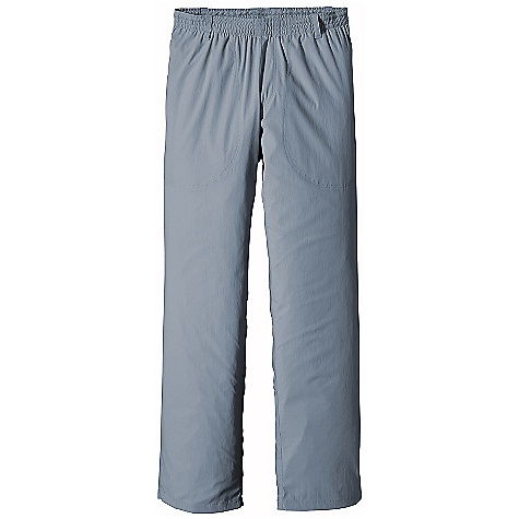 Free Shipping. Patagonia Men's Tropical Flats Pants DECENT FEATURES of the Patagonia Men's Tropical Flats Pants Nylon/spandex blend adds just enough stretch for easy movement in these lightweight, quick-drying pants with 30-UPF sun protection Elastic waist with draw cord for comfort Mesh draining on-seam pockets unique snap on pocket holds pocket bag open when wind is at wearer's back so pants vent The SPECS Regular fit Weight: 7.4 oz / 210 g 3-oz 93% nylon 7% spandex with 30-UPF sun protection Inseam: 32in. This product can only be shipped within the United States. Please don't hate us. - $79.00
