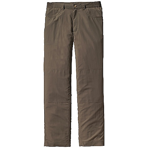 Free Shipping. Patagonia Men's Home Waters Pant DECENT FEATURES of the Patagonia Men's Home Waters Pant Durable, quick-drying nylon taslan fabric, with a DWR finish and 50+ UPF sun protection Elasticized waistband with button closure for a comfortable fit Jeans-style front pockets with mesh for drainage Two back pockets one with a secure zipper closure Gusseted crotch adds mobility The SPECS Regular fit Weigh: 9.4 oz / 266 g 3.4-oz 100% nylon taslan with a DWR (durable water repellent) finish and 50+ UPF sun protection Inseam: 32in. This product can only be shipped within the United States. Please don't hate us. - $69.00