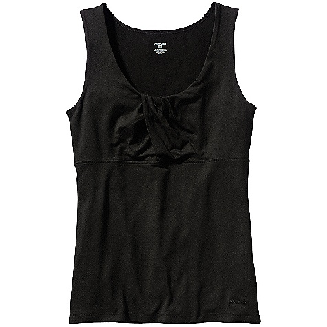On Sale. Patagonia Women's Bandha Top DECENT FEATURES of the Patagonia Women's Bandha Top Ultra-stretchy, soft fabric offers excellent shape retention, wicks moisture and dries fast Scoop neck design with wrap detail Sleeveless for ultimate mobility without sacrificing shoulder coverage Hip length Slim fit The SPECS Weight: 4.7 oz / 133 g 6-oz 92% nylon/8% spandex smooth-faced jersey knit, with moisture-wicking performance This product can only be shipped within the United States. Please don't hate us. - $21.99