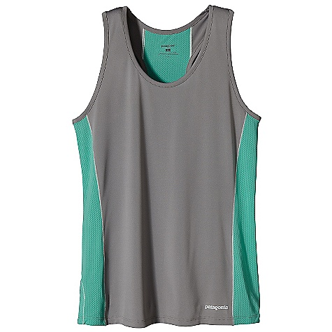 Surf On Sale. Patagonia Women's Draft Tank DECENT FEATURES of the Patagonia Women's Draft Tank Capilene 1 combined with polyester mesh fabrics provide maximum breathability, quick dry times and a great fit Offset seam construction provides full mobility and minimum chafe Reflective heat-transfer front logo and back graphic The SPECS Slim fit Weight: 2.3 oz / 65 g Body: 3.4-oz 100% polyester Contrast Panels: 3.1-oz 100% polyester mesh (30% recycled) Both with Gladiator odor control for the garment This product can only be shipped within the United States. Please don't hate us. - $18.99