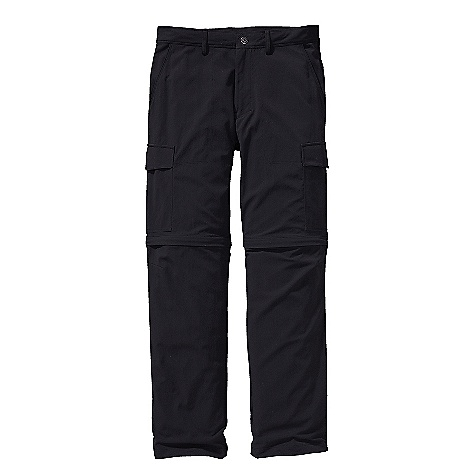 On Sale. Free Shipping. Patagonia Men's Roving Zip-Off Pant DECENT FEATURES of the Patagonia Men's Roving Zip-Off Pant Light-wearing, durable nylon canvas has 50+ UPF sun protection Zip-off pants have belt loops, zip fly with metal snap, and double-needle stitching details Two front slash pockets and welted right rear drop-in pocket All with breathable mesh pocket bags Cargo pockets on thighs secure with hidden metal button Gusseted crotch and articulated knees for increased mobility Pants convert to shorts with unobtrusive zip-off legs that have color-coded zippers for easy on/off The SPECS Regular fit Weight: 15.3 oz / 433 g Inseam: pant: 32in., short: 11in. 5.4-oz 100% nylon canvas with 50+ UPF sun protection This product can only be shipped within the United States. Please don't hate us. - $52.99