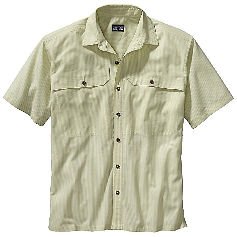 Free Shipping. Patagonia Men's Island Hopper Shirt DECENT FEATURES of the Patagonia Men's Island Hopper Shirt Quick-drying fabric is highly breathable and comfortable, with 15-UPF sun protection Reach-through chest utility pockets with sculpted front pocket flaps The SPECS Relaxed fit Weight: 7.5 oz / 213 g 65% all-recycled polyester 35% organic cotton plain weave with 15-UPF sun protection This product can only be shipped within the United States. Please don't hate us. - $79.00