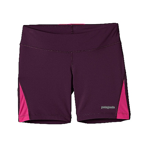 Patagonia Women's All Weather Short DECENT FEATURES of the Patagonia Women's All Weather Short Polyester/spandex blend is soft and supple Flattering waistband has a lay-flat draw cord inside External envelope pocket at center back holds essentials and features a key loop The SPECS Formfitting Inseam: 6in. Weight: 3.3 oz / 93 g 5.6-oz 88% polyester, 12% spandex Mesh inset and pocket: 3.1-oz 100% polyester mesh (30% recycled) This product can only be shipped within the United States. Please don't hate us. - $39.00