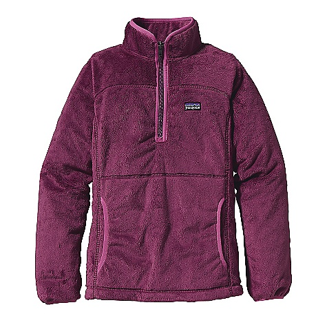 On Sale. Free Shipping. Patagonia Girls' Plush Marsupial Pullover DECENT FEATURES of the Patagonia Girls' Plush Marsupial Pullover A soft and cozy pullover in a double-faced high-pile fleece Deep front zip and kangaroo-style front pocket Girl-friendly fit with seam details Spandex binding with fun contrast Hand-me-down ID label The SPECS 9.7-oz 100% polyester high-pile, double-faced fleece Weight: 11.4 oz / 323 g Regular fit This product can only be shipped within the United States. Please don't hate us. - $43.99