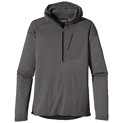 Free Shipping. Patagonia Men's Capilene 4 EW 1-4 Zip Hoody DECENT FEATURES of the Patagonia Men's Capilene 4 Ew 1/4 Zip Hoody Polartec Power Dry High Efficiency Fabric is Designed with a Smooth Jersey Face for Easy Layering Open Grid Next to Skin Provides Superior Warmth, Breathability and Moisture-Wicking Performance Spandex Added for Stretch and Ease of Movement Self-Fabric Hood with Anatomic Shaping and High-Collar for Added Coverage and Warmth Elongated Center-Front Zipper Allows Deep Venting Left Chest Zipper Pocket for Easy Storage Hidden Thumb Loops for Secure Coverage The SPECS Slim fit Weight: 7.9 oz / 223 g 3.7 oz Polartec Power Dry High Efficiency 91% Polyester (30% Recycled), 9% Spandex, with Gladiodor Odor Control for The Garment This product can only be shipped within the United States. Please don't hate us. - $119.00