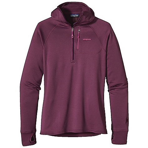 On Sale. Free Shipping. Patagonia Women's R1 Hoody DECENT FEATURES of the Patagonia Women's R1 Hoody Versatile R1 fleece provides excellent stretch, warmth, wicking and breathability in a variety of temperatures Fleece has high/low grid on inside for enhanced compressibility, airflow and dry time Microfiber face speeds moisture-wicking and allows for easy layering Lightweight, micro-grid panels under the arms, at cuffs and hem reduce bulk and increase breathability Snug-fitting balaclava-style hood; center-front Slim-Zip with soft, kissing-welt zipper garage and chin flap for next-to-skin comfort Zippered chest pocket with brushed polyester mesh Raglan sleeves for comfort under pack straps lightweight, micro-grid stretch cuffs have thumb loops The SPECS Slim fit Weight: 11.4 oz / 323 g Body: 6.8-oz Polartec Power Dry 93% polyester (41% recycled)/7% spandex Cuffs and Hem: 5.4-oz Polartec Power Dry 92% polyester (54% recycled)/8% spandex This product can only be shipped within the United States. Please don't hate us. - $80.99