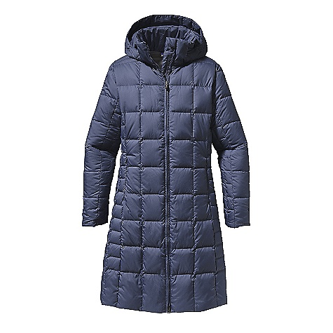 On Sale. Free Shipping. Patagonia Women's Down With It Parka DECENT FEATURES of the Patagonia Women's Down with It Parka 100% recycled polyester shell insulated with 600-fill-power premium European goose down Quilted pattern is updated this season with narrower quilt lines on side panels for a sleek silhouette 2-way front zipper with wind flap On-seam, zippered handwarmer pockets Interior zippered chest pocket Knee length The SPECS Slim fit Weight: 27.7 oz / 785 g 2.3-oz 100% recycled polyester with a Deluge DWR (durable water repellent) finish Insulation: 600-fill-power premium European goose down This product can only be shipped within the United States. Please don't hate us. - $193.99