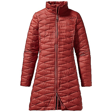 On Sale. Free Shipping. Patagonia Women's Fiona Parka DECENT FEATURES of the Patagonia Women's Fiona Parka Windproof and water-repellent shell fabric with a Deluge DWR finish Insulated with 800-fill-power premium European goose down Updated quilting pattern with curved, feminine quilt lines Full-length two-way zipper On-seam, zippered handwarmer pockets Interior drop-in pockets Princess seams front and back Above-the-knee length The SPECS Slim fit 1.5-oz 22-denier 100% recycled polyester with a Deluge DWR (durable water repellent) finish Insulation: 800-fill-power premium European goose down Weight: 14.1 oz / 399 g This product can only be shipped within the United States. Please don't hate us. - $208.99