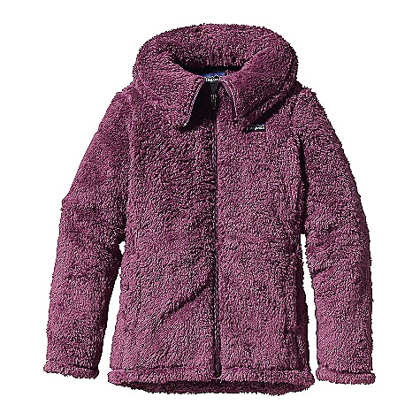 On Sale. Free Shipping. Patagonia Girls' Los Lobos Jacket DECENT FEATURES of the Patagonia Girls' Los Lobos Jacket Super cuddly, high-pile plush fleece Full-zip through collar High collar folds over for extra warmth or opens for a stylish shawl look Handwarmer pockets Princess seams give jacket a feminine shape and girl fit Hand-me-down ID label The SPECS Regular fit Weight: 10.8 oz / 306 g 8.6-oz 100% polyester high-pile, double-faced fleece This product can only be shipped within the United States. Please don't hate us. - $50.99