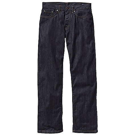 On Sale. Free Shipping. Patagonia Men's Regular Fit Jean DECENT FEATURES of the Patagonia Men's Regular Fit Jean Durable-yet-soft organic cotton denim Classic 5-pocket jeans styling with rear yoke and belt loops Button fly Fit updated this season Now available in dyed-denim finishes The SPECS Regular fit Weight: 22.5 oz / 637 g Inseam: short: 30in., regular: 32in., long: 34in. Dark Wash: 11-oz 100% organic cotton denim Grey Wash: 9.5-oz 99% organic cotton/1% spandex Colors: 10.5-oz 98% organic cotton/2% spandex This product can only be shipped within the United States. Please don't hate us. - $74.99
