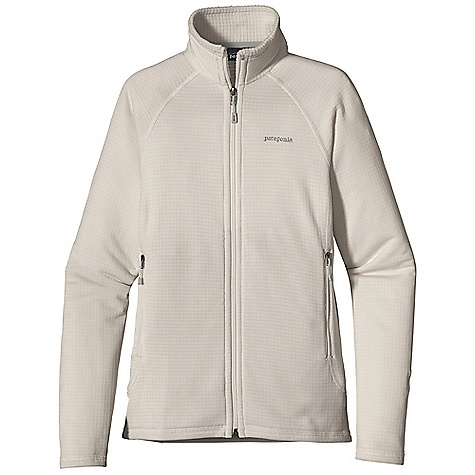 Free Shipping. Patagonia Women's R1 Full-Zip Jacket DECENT FEATURES of the Patagonia Women's R1 Full-Zip Jacket Versatile R1 fleece provides excellent stretch, warmth, wicks moisture and breathes in a variety of temperatures Interior high/low grid fleece enhances compressibility, airflow and dry time Center-front Slim-Zip with soft, kissing-welt zipper garage and chin flap for next-to-skin comfort Microfiber face speeds dry time and allows for easy layering Two zippered hand warmer pockets Raglan sleeve construction reduces bulk under a pack The SPECS Slim fit Weight: 11.8 oz / 335 g 6.8-oz Polartec Power Dry 93% polyester (41% recycled) 7% spandex This product can only be shipped within the United States. Please don't hate us. - $149.00