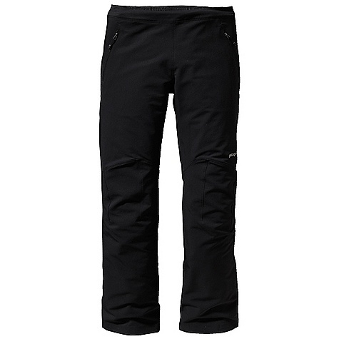 Free Shipping. Patagonia Women's Guide Pant DECENT FEATURES of the Patagonia Women's Guide Pant Polartec Power Shield stretch-woven nylon/polyester blend is highly breathable, wind resistant and durable Brushed interior for next-to-skin comfort Pull-on, drawcord waist band has elastic on back Two handwarmer pockets with DWR -treated zippers Articulated knees for optimal mobility Tie-down loops on cuffs The SPECS Regular fit Weight: 14.3 oz / 405 g 7.1-oz Polartec Power Shield stretch-woven 46% nylon, 46% polyester, 8% spandex with Hardface Technology and a Deluge DWR (durable water repellent) finish This product can only be shipped within the United States. Please don't hate us. - $179.00