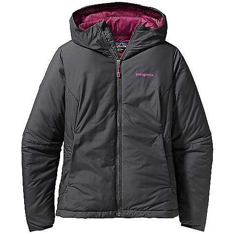 On Sale. Free Shipping. Patagonia Women's Micro Puff Hoody DECENT FEATURES of the Patagonia Women's Micro Puff Hoody Lightweight, windproof recycled polyester shell fabric is treated with a Deluge DWR (durable water repellent) finish Insulated with warm and compressible 100-g PrimaLoft Sport Single-pull hood adjustment controls volume and improves visibility Articulated elbows improve mobility; gasket cuffs enhance protection Full-length front zipper has a low bulk wind flap Two zippered hand warmer pockets and one internal zip pocket for storage Stuff sack included The SPECS Regular fit Weight: 16.4 oz / 465 g Shell: 1.7-oz 30-denier ripstop 100% recycled polyester Insulation: 100-g PrimaLoft Sport 100% polyester Lining and Stuff Sack: 1.4-oz mini-ripstop 100% polyester This product can only be shipped within the United States. Please don't hate us. - $121.99