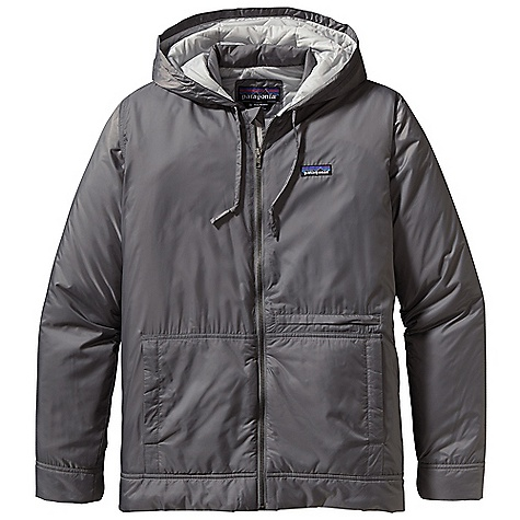 On Sale. Free Shipping. Patagonia Men's Stoss Hoody DECENT FEATURES of the Patagonia Men's Stoss Hoody Made of a lightweight, durable polyester ripstop shell with a DWR finish, insulated with 60-g PrimaLoft One polyester for warmth and compressibility Classic-looking and insulated full-zip hoody includes a metal zipper, internal reinforced wind flap, zipper garage and an insulated draft collar Pockets: Insulated, kangaroo-style handwarmers horizontal, welted zippered pocket on left torso interior, left-chest zippered pocket Smooth micro-ripstop exterior fabric interior with diamond-shaped quilting throughout keeps PrimaLoft One insulation in place Roomy, 3-piece insulated hood with self-fabric, adjustable drawcord Hip length The SPECS Regular fit Weight: 14.9 oz / 422 g Shell and Lining: 1.4-oz 100% polyester mini-ripstop with DWR finsh Insulation: 60-g PrimaLoft One 100% polyester (70% recycled) This product can only be shipped within the United States. Please don't hate us. - $95.99