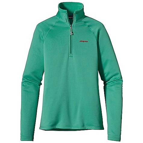 On Sale. Free Shipping. Patagonia Women's R1 Pullover DECENT FEATURES of the Patagonia Women's R1 Pullover Versatile R1 fleece provides excellent stretch, warmth, wicks moisture and breathes in a variety of temperatures Interior high/low grid fleece enhances compressibility, airflow and dry time Center-front Slim-Zip with soft, kissing-welt zipper garage and chin flap for next-to-skin comfort Microfiber face speeds dry time and allows for easy layering Raglan sleeve construction reduces bulk while wearing a backpack Pullover has a feminine fit The SPECS Slim fit Weight: 9.7 oz / 275 g 6.8-oz Polartec Power Dry 93% polyester (41% recycled) 7% spandex This product can only be shipped within the United States. Please don't hate us. - $69.99