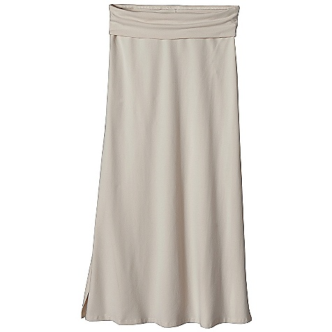 Free Shipping. Patagonia Women's Serenity Skirt DECENT FEATURES of the Patagonia Women's Serenity Skirt Organic cotton with stretch for mobility Flat waistband rolls down for a snug, contoured fit Long and flattering with side slits for mobility 36in. waist to hem The SPECS Slim fit, Ankle length Weight: 9.4 oz / 266 g 8.6-oz 85% organic cotton, 15% spandex knit This product can only be shipped within the United States. Please don't hate us. - $65.00
