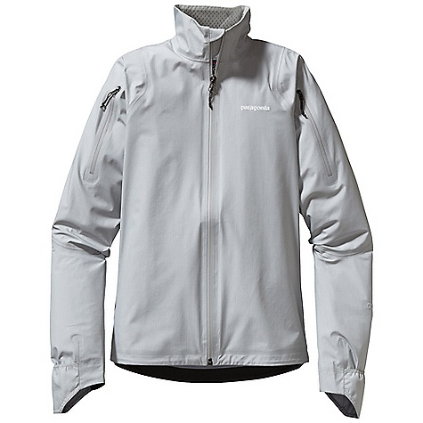 On Sale. Free Shipping. Patagonia Women's Light Flyer Jacket DECENT FEATURES of the Patagonia Women's Light Flyer Jacket 3-layer Gore-Tex Active 100% nylon with a DWR finish for durably waterproof/breathable and windproof protection Self-fabric stand-up collar is lined with lightweight mesh Upper arm zippers can be unzipped to facilitate air flow through jacket toward back venting system Articulated sleeve with fold-over cuff converts to mitt for wet/cold weather protection Waterproof pocket at center back holds essentials Low-profile draw cord at hem Reflective logo on chest and center back neck The SPECS Slim fit Weight: 8.1 oz / 230 g 3-layer, 3.1-oz 30-denier 100% nylon Gore-Tex Active fabric with a DWR finish This product can only be shipped within the United States. Please don't hate us. - $166.99