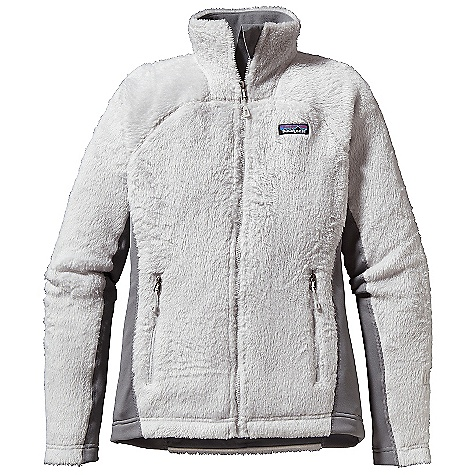 Free Shipping. Patagonia Women's R3 Hi-Loft Jacket DECENT FEATURES of the Patagonia Women's R3 Hi-Loft Jacket Extremely warm and superlight high-loft directional knit provides maximum warmth-to-weight ratio, wicks moisture and dries fast Polartec Power Stretch fleece panels provide great fit and durability in high-wear areas Microfleece-lined collar, cuffs and hem Two zippered handwarmer pockets Drawcord hem The SPECS Body: 7.4-oz Polartec Thermal Pro 98% polyester (70% recycled), 2% spandex Side Panel: 6.6-oz Polartec Power Stretch 88% polyester (60% recycled), 12% spandex Pockets: 4.9-oz 95% polyester, 5% spandex Weight: 13.2 oz / 374 g This product can only be shipped within the United States. Please don't hate us. - $179.00