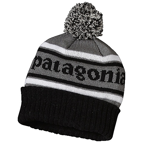 Entertainment Patagonia Powder Town Beanie DECENT FEATURES of the Patagonia Powder Town Beanie Nylon and chlorine-free merino wool blend is soft and comfortable 3in. rib-knit cuff with pom-pom styling The SPECS 55% nylon, 45% chlorine-free merino wool Weight: 4 oz / 113 g This product can only be shipped within the United States. Please don't hate us. - $39.00