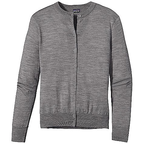 On Sale. Free Shipping. Patagonia Women's Merino Cardigan DECENT FEATURES of the Patagonia Women's Merino Cardigan Jersey Knit In Fine, 16-Gauge 100% Merino Wool Classic Cardigan with a Crewneck Front Placket with Delicate Buttons Fitted Long Sleeves Fine Rib-Knit at Cuffs and Hem Hip Length The SPECS Slim fit Weight: 6.8 oz / 192 g 16-Gauge 100% Merino Wool This product can only be shipped within the United States. Please don't hate us. - $68.99