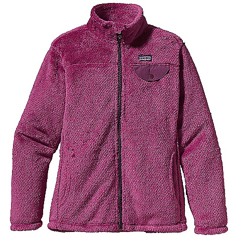 On Sale. Free Shipping. Patagonia Girls' Re-Tool Jacket DECENT FEATURES of the Patagonia Girls' Re-Tool Jacket Deep-pile fleece with recycled polyester has extra-long fibers for warmth retention Stand-up collar has double fleece for warmth Full-length zipper with self-zipper garage Yoke and princess seams add feminine contouring Supplex nylon chest pocket flap with snap closure Handwarmer pockets The SPECS 9-oz Polartec Thermal Pro 100% polyester fleece (51% recycled) Weight: 12 oz / 340 g Regular fit This product can only be shipped within the United States. Please don't hate us. - $76.99