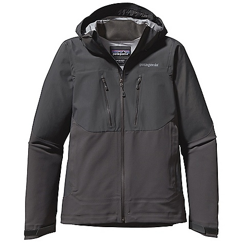 On Sale. Free Shipping. Patagonia Men's Mixed Guide Hoody DECENT FEATURES of the Patagonia Men's Mixed Guide Hoody Polartec Power Shield stretch-woven fabric is durable, highly breathable and wind-resistant waterproof/breathable H2No Performance Standard fabric in the shoulder, chest, upper arms and hood repel moisture Brushed interior for next-to-skin comfort Helmet-compatible, 2-way-adjustable hood with laminated visor for optimal visibility in bad conditions Micro fleece-lined neck and chin for comfort Chest pockets with DWR-finished reverse coil zippers two harness and pack-compatible hand warmer pockets with reverse coil zippers and storm flap for secure storage Full reach gusseted panels let you reach without raising the body of the jacket Draw cord hem The SPECS Regular fit Weight: 22 oz / 624 g H2No Performance Standard shell: 4.8-oz / 70 denier 100% nylon ripstop with a waterproof/ breathable barrier Soft shell: 9.5-oz, Polartec Power Shield stretch-woven 57% polyester/36% nylon/7% spandex. All with Deluge DWR (durable water repellent) finish This product can only be shipped within the United States. Please don't hate us. - $193.99