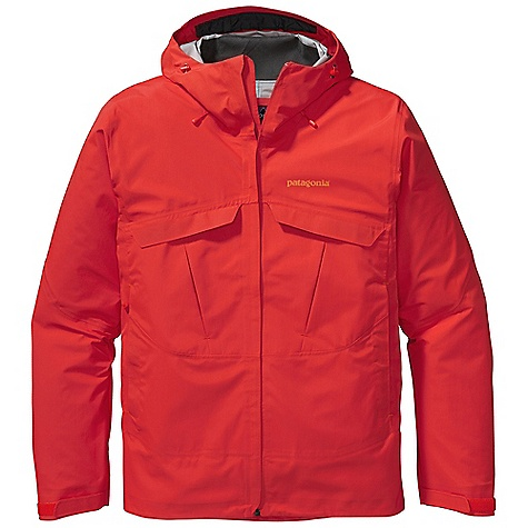 Free Shipping. Patagonia Men's Exosphere Jacket DECENT FEATURES of the Patagonia Men's Exosphere Jacket H2No Performance Standard shell is built with 3-layer waterproof/breathable nylon ripstop with a Deluge DWR finish Helmet-compatible, 2-way adjustable hood Center-front zipper with minimal welt storm flap that creates a zipper-garage chin flap Watertight-coated pit zips Pockets: two top-entry chest pockets with pressed pleats that expand for storage two harness-and pack-compatible hand warmers one internal watertight pocket all with zippers Self-fabric hook-and-loop cuff closure Dual-adjust draw cord hem The SPECS Regular fit Weight: 21.7 oz / 615 g H2No Performance Standard shell: 3-layer, 4.8-oz / 70-denier 100% nylon ripstop with a waterproof/breathable barrier and a Deluge DWR (durable water repellent) finish This product can only be shipped within the United States. Please don't hate us. - $349.00