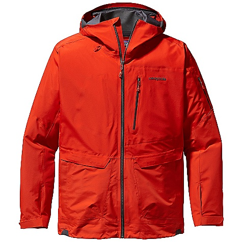On Sale. Free Shipping. Patagonia Men's Pow Slayer Jacket DECENT FEATURES of the Patagonia Men's Pow Slayer Jacket Lightweight, durable 3-layer nylon waterproof/breathable Gore-Tex Pro fabric for the best in durable waterproof/breathable performance Helmet-compatible, 2-way-adjustable fixed hood with laminated visor provides optimal visibility in bad conditions Touch Point System embeds cord locks in the hood and hem for quick adjustment and seals out snow (US patent number 5263202) Slim Zip installation with watertight coated zippers for reduced zipper bulk and weight Water-resistant center-front zipper Pit zips quickly release heat Adjustable low profile cuff quickly secures over or under gloves, with less bulk New sleek, low-profile powderskirt design stays engaged whether secured or not It rotates as the rider moves for extra comfort and protection Zippered pockets: Two drop-in cargo, one chest, one arm for pass, and one internal stash Includes secure media pocket with cable routing The SPECS 3-layer, 3.2-oz 40-denier 100% nylon Gore-Tex Pro fabric Reinforcements: 3-layer, 3.8-oz 70-denier 100% nylon Gore-Tex Pro fabric Shell and reinforcements have a DWR (durable water repellent) finish Weight: 19.5 oz / 552 g This product can only be shipped within the United States. Please don't hate us. - $406.99