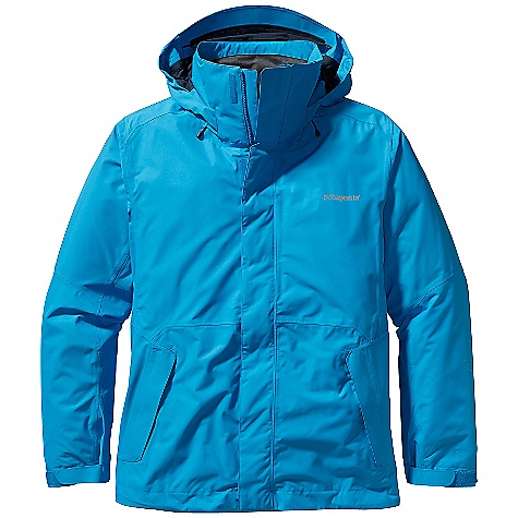 Ski On Sale. Free Shipping. Patagonia Men's Snowshot Jacket DECENT FEATURES of the Patagonia Men's Snowshot Jacket Durable H2No Performance Standard 2-layer polyester plain weave or ripstop fabric (depending on color) has a waterproof/breathable barrier for storm protection Slick mesh lining keeps you warm and wicks away moisture Updated this season with a low-profile snap closure Helmet-compatible, 2-way-adjustable removable hood with laminated visor provides optimal visibility in bad conditions Soft micro fleece panels inserted in back neck and chin keeps neck cozy High collar seals out cold air and snow Pit zips quickly release heat Articulated arms improve mobility Updated, low profile, snow-seal powder skirt, with snap-secure webbing loop at center back, keeps snow out and skirt down - connects to any Patagonia Snow pant Zippered pockets: Two hand warmers, one chest (with secure media pocket and cable routing), two internal drop pockets for goggles and gloves, and one internal stash pocket Improved adjustable low-profile cuff design Hem can cinch on extra chilly days to keep the cold out Draw cord exits into hand warmer pockets for easy adjustments The SPECS Relaxed fit Weight: 33.6 oz / 952 g H2No Performance Standard ripstop Shell: 2-layer, 4.5-oz 75-denier 100% polyester (50% recycled) ripstop with a waterproof/breathable barrier and a Deluge DWR (durable water repellent) finish H2No Performance Standard Plain-Weave Shell: 2-layer, 4.5-oz 75- to 150-denier 100% polyester (48% recycled) plain weave with a waterproof/breathable barrier and a DWR finish Body Lining: 100% polyester brushed-tricot mesh Lower Body, hood Lining and Powder Skirt: 2-oz 100% polyester plain weave This product can only be shipped within the United States. Please don't hate us. - $194.99