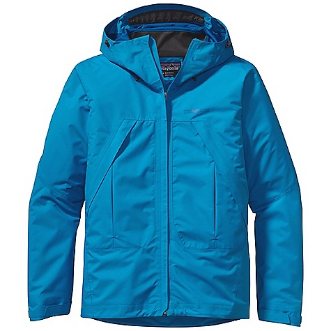 On Sale. Free Shipping. Patagonia Men's Storm Jacket DECENT FEATURES of the Patagonia Men's Storm Jacket 2-layer H2No Performance Standard polyester ripstop waterproof/breathable fabric is soft, supple and repels moisture Helmet-compatible, 2-way adjustable hood Soft microfleece-lined chin guard Center-front zipper with minimal storm flap seals out snow PU-coated-waterproof pit zips Two harness- and pack-compatible handwarmer pockets have reverse coil zippers and storm flaps to keep items dry Pressed pleats allow for expanded storage One internal security pocket Self-fabric hook-and-loop cuff closure Dual-adjust drawcord hem seals out snow The SPECS Regular fit Weight: 23.4 oz / 663 g H2No Performance Standard Shell: 2-layer, 4.2-oz 75-denier 100% polyester ripstop with a waterproof/breathable barrier Pockets, Inside Torso and Hood: 100% polyester tricot warp knit Shell and lining have a Deluge DWR (durable water repellent) finish This product can only be shipped within the United States. Please don't hate us. - $160.99