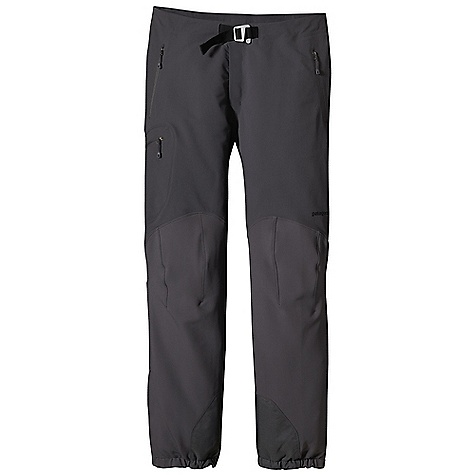 Free Shipping. Patagonia Men's Alpine Guide Pant DECENT FEATURES of the Patagonia Men's Alpine Guide Pant Polar Tec Power Shield stretch-woven nylon/polyester blend is highly breathable, wind resistant and durable Separating waist with 2-way zip fly and hook-and-loop tab closure has built-in separating belt with adjustable slider-hook buckle lies flat under a harness or backpack Two hand warmer pockets, one thigh pocket; all with reverse-coil DWR-treated zippers Articulated knees for optimal mobility Alpine boot-compatible, zippered cuffs with snap tabs, scuff guards and gripper elastic cuffs with tie-down loops The SPECS Regular fit Body: 7.1-oz / Polartec Power Shield stretch-woven 46% nylon/46% polyester/8% spandex Reinforcement: 9.5-oz / Polartec brushed, stretch-woven 57% polyester/36% nylon/7% spandex Body and reinforcements have a Deluge DWR (durable water repellent) finish This product can only be shipped within the United States. Please don't hate us. - $229.00