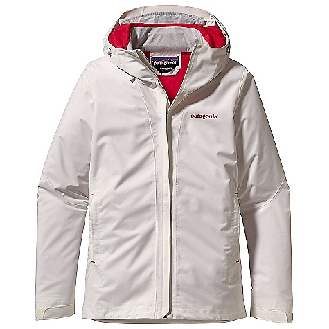 On Sale. Free Shipping. Patagonia Women's Storm Jacket DECENT FEATURES of the Patagonia Women's Storm Jacket 2-layer H2No Performance Standard polyester ripstop waterproof/breathable fabric is soft, supple and repels moisture Helmet-compatible, 2-way adjustable hood Soft microfleece-lined chin guard Center-front zipper with minimal storm flap seals out snow PU-coated-waterproof pit zips Pockets: Two harness- and pack-compatible handwarmers with reverse coil zippers and storm flaps keep items dry Pressed pleats allow for additional storage One internal security pocket Self-fabric hook-and-loop cuff closure Dual-adjust drawcord hem seals out snow The SPECS Regular fit Weight: 20.3 oz / 575 g H2No Performance Standard Shell: 2-layer, 4.2-oz 75-denier 100% polyester ripstop with a waterproof/breathable barrier Pockets, Inside Torso and Hood: 100% polyester tricot warp knit Shell and lining have a Deluge DWR (durable water repellent) finish This product can only be shipped within the United States. Please don't hate us. - $123.99
