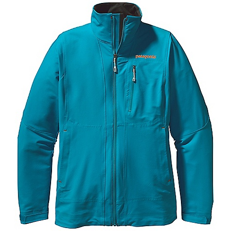 Free Shipping. Patagonia Women's Alpine Guide Jacket DECENT FEATURES of the Patagonia Women's Alpine Guide Jacket Polartec Power Shield stretch-woven nylon/polyester blend is highly breathable, wind resistant and durable Brushed interior for next-to-skin comfort and moisture management Micro fleece-lined collar, chin guard and wind flap for next-to-skin comfort One chest and two harness- and pack-compatible hand warmer pockets with PU-coated zippers Articulated sleeves for full coverage and mobility Self-fabric hook-and-loop cuff closure Dual-adjust draw cord hem The SPECS Regular fit   Weight: 16.5 oz / 468 g 7.1-oz Polartec Power Shield stretch-woven 46% nylon 46% polyester 8% spandex, with a Deluge DWR (durable water repellent) finish This product can only be shipped within the United States. Please don't hate us. - $229.00